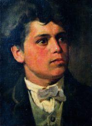 Segantini e Arco - Giovanni Segantini, Autoritratto all'età di vent'anni, (1879-1880Arco, Comune di Arco