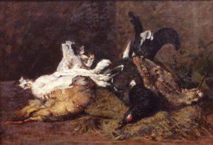 Segantini e Arco - Giovanni Segantini, Natura morta con cacciagione