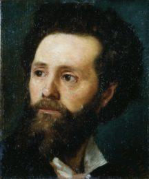 Segantini e Arco - Eugenio Prati, Ritratto di Andrea Malfatti, (1871-1874), olio su tavola, 33 x 27,5 cm, Rovereto, Mart