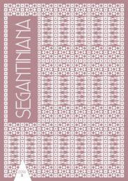 Giovanni Segantini | Arco | Segantini e Arco | Segantiniana. Studi e ricerche vol. II
