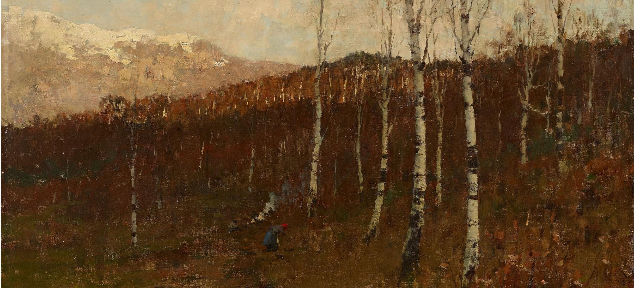 Bartolomeo-Bezzi-Bosco-ceduo-Bosco-di-betulle-1886-olio-su-tela-71-x-1005-cm-Rovereto-Mart-Comune-di-Trento