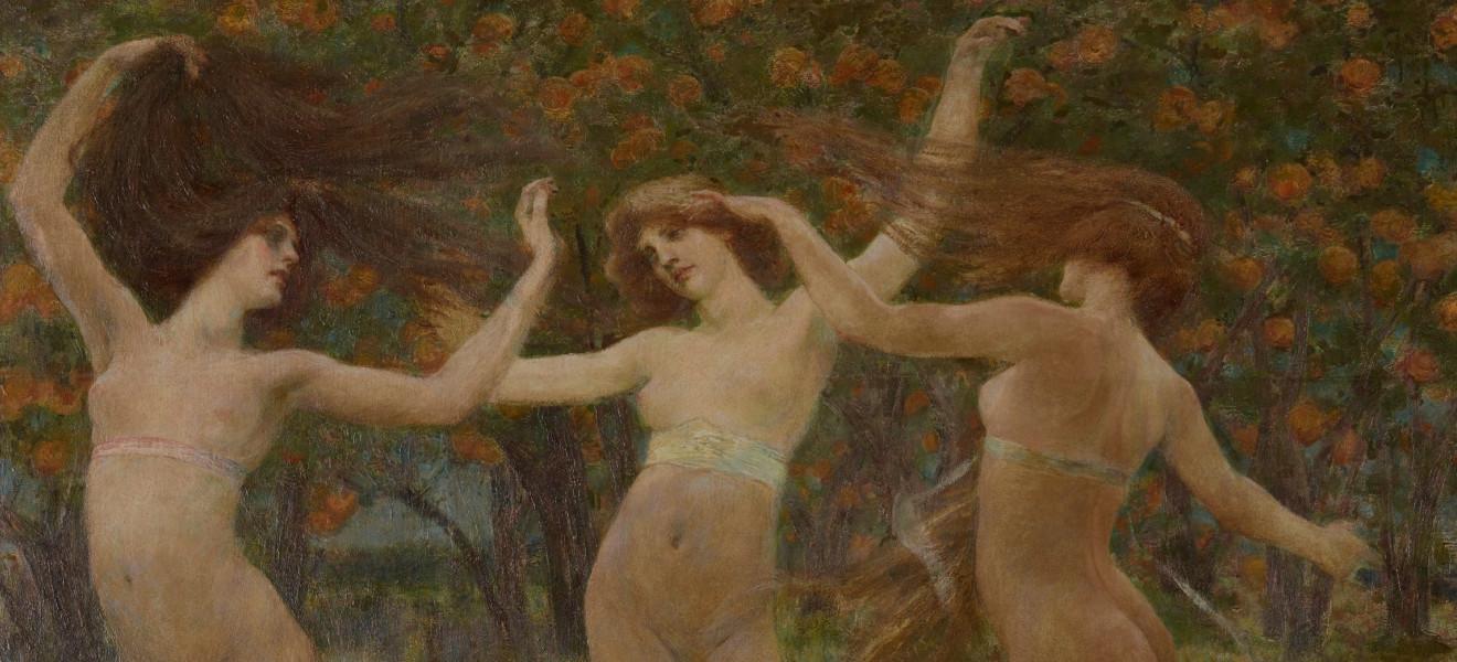 Segantini e Arco - Cesare Laurenti, Visione antica, (1901), olio su tela applicata su tavola, Mart